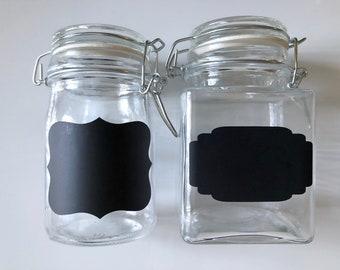 Mini Chalk Board Glass Mason Jars