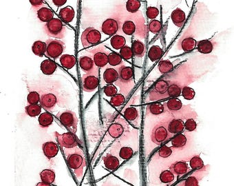 Postcard red berries
