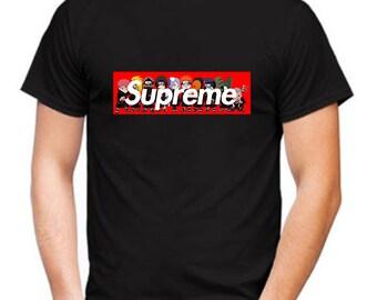 Naruto Supreme Shirts, Sasuke t-shirt, Supreme tee, Manga Shirt, Anime Shirt, Uchiha Shirt, Sharingan, Supreme Shirt