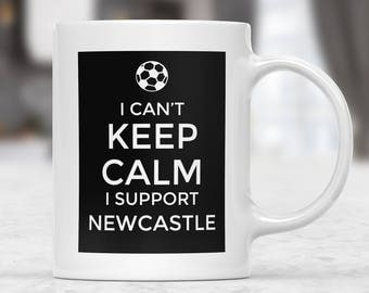 Newcastle Supporter Mug, Football Gift Mug, Football Supporter Mug, Funny Football Mug, Football Fan Present, Football Team Lover