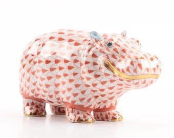 Herend Hippopotamus Figurine