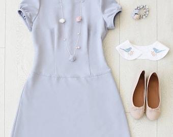 Dress, Short Dress, Bridesmaid Dress, Dusty Blue Dress, Light Blue Dress, Wedding Dress, Summer Dress, Dresses, Day Dress, Designer Dress