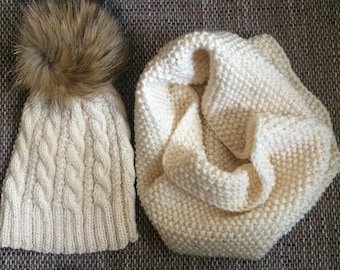 Set cap and  scarf-ring