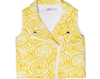 Yellow Lemons Rocker Gilet