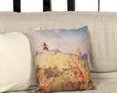 Way up the calvary, decorative cushion with colorful printed details of paint - Limited Edition of 100