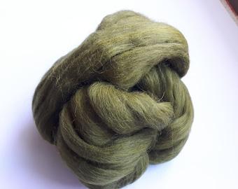 Strand of olive green woolen