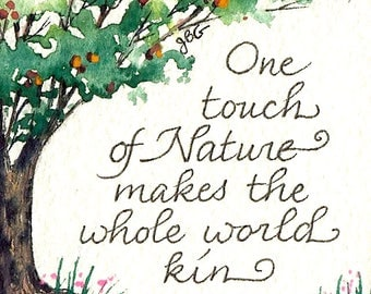 "Magnet - ""One touch of nature makes the whole world kin."" Shakespeare"