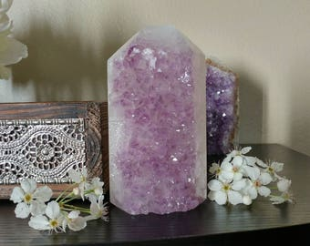 Large Amethyst Geode Tower