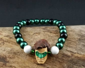 Custom Green Lantern Bead Bracelet