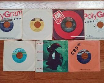 Vintage 45 RPM Vinyl Record Lot---7 R&B Singles (Lot #3)