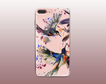 Birds Clear TPU iPhone Case for iPhone 8- iPhone 8 Plus - iPhone X - iPhone 7 Plus-iPhone 7-iPhone 6-iPhone 6S-Samsung S8