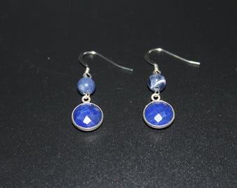 Lapis lazuli and Sodalite earrings
