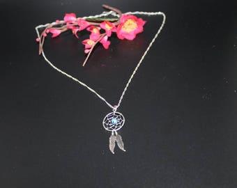 Necklace dream catcher feathers