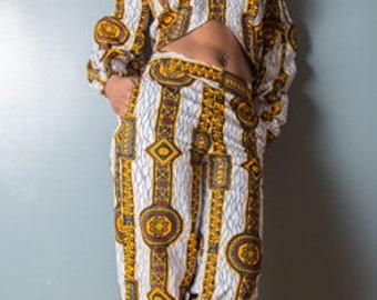 Naïlotte AFRICAN Print wide leg PANTS and TOP