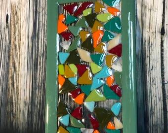 Decorative fused glass wall art