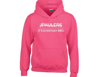 Jake Paul Horizontal It's Everyday Bro Pink Hoodie Team 10, Kids Girls Youth & Adults top sweater
