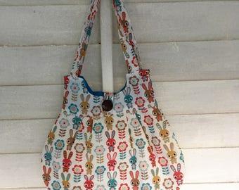 Cute Rabbit print shoulder bag