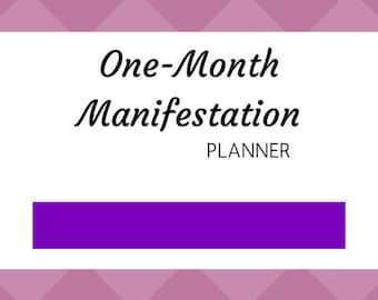 One-Month Manifestation Planner