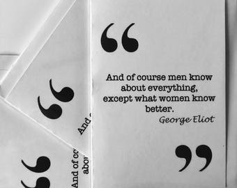 George Eliot Love quote card