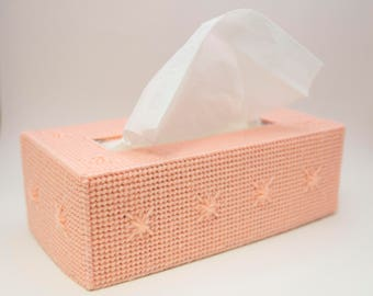 Pink Tissue Box Cover