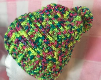 Child Pom Pom Hat