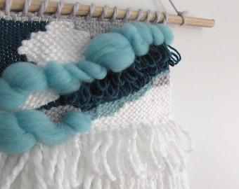Aqua Cloud Handmade Woven Wall Hanging