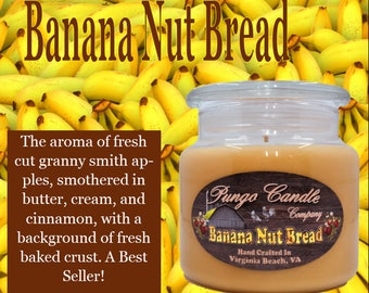 Banana Nut Bread Scented Jar Candle (16 oz.)!