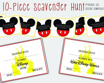 Disney Scavenger Hunt