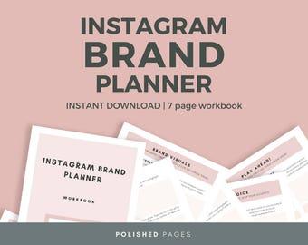 Instagram Brand Planner, Brand Guide, Brand Design, Social Media Planner
