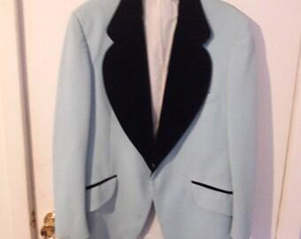Vintage Pastel Blue Tux Jacket