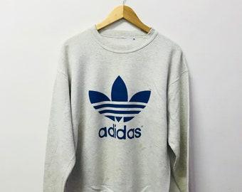 FREE SHIPPING!!! Vintage 90's Adidas Sweatshirt Big Logo Large Size