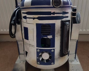 Star Wars R2D2 Inspired Handmade Replica / light / projector / radio / dvd cd player / phone charger/ Bluetooth / Made to Order / UK Seller
