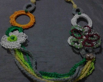 handmade crochet jewelry