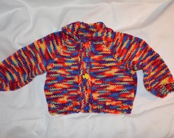 Multi-coloured Baby Boy Cardigan Sweater