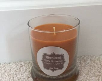 Hand Poured Soy Candle - Spa Day - 12 oz. Glass