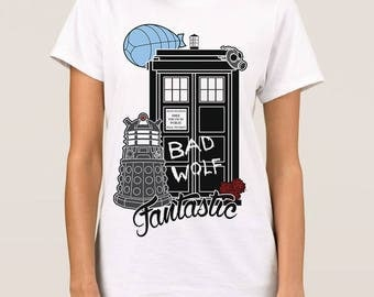 Fantastic Doctor Who Art T-Shirt, All Sizes