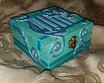 Blue Swirl Jewelry Box