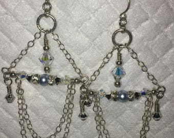 Swarovski and sterling silver earrings