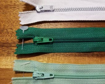 Vintage Zippers, Lot of 18, various colors and sizes