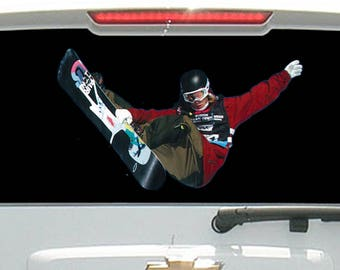 Snowboarder doing Trick in the Air