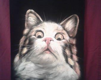 Surprised Cat painting