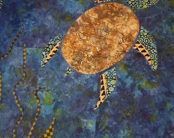 Batik Sea Turtle Queen Sized Quilt