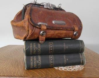 Late 1800s Wells Fargo & Co. Leather Bag -- Americana at its Finest!