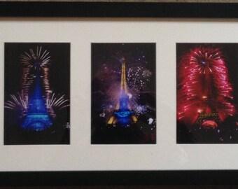 Paris Eiffel Tower Fireworks Photos France