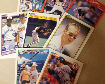 Eight Cal Ripken Jr. cards