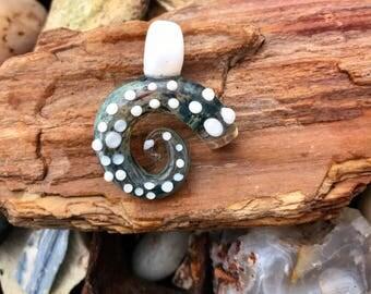 Spiral tentacle pendant