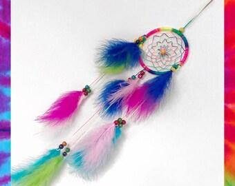 Rainbow coloured Dreamcatcher