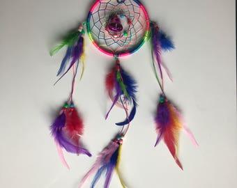 Rainbow coloured dream catcher