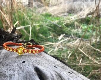 Orange/Yellow Bamboo Cord Bracelet