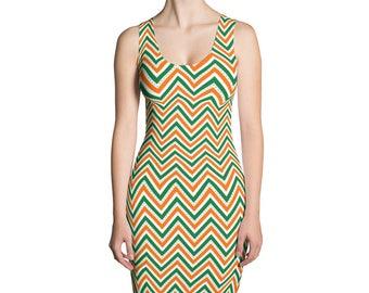 St.Patrick's Day,Sublimation Cut & Sew Dress,Pattern, Printful, USA